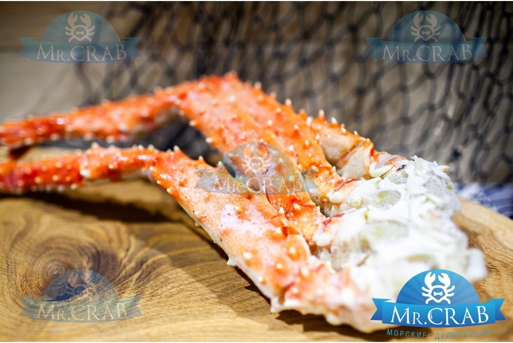 Клешни камчатского краба (в панцире) размер M, 1 кг